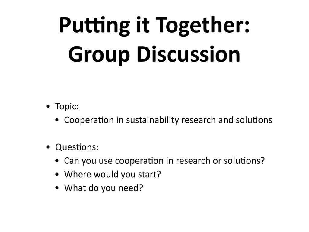 Puong it Together: Group Discussion • Topic: • ...