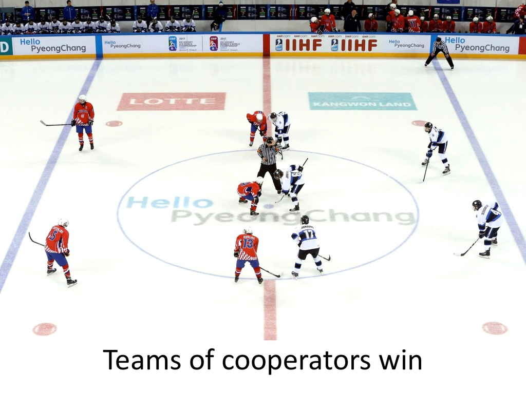 Teams of cooperators win