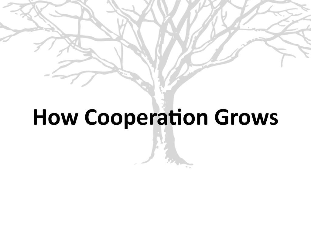 How Coopera6on Grows