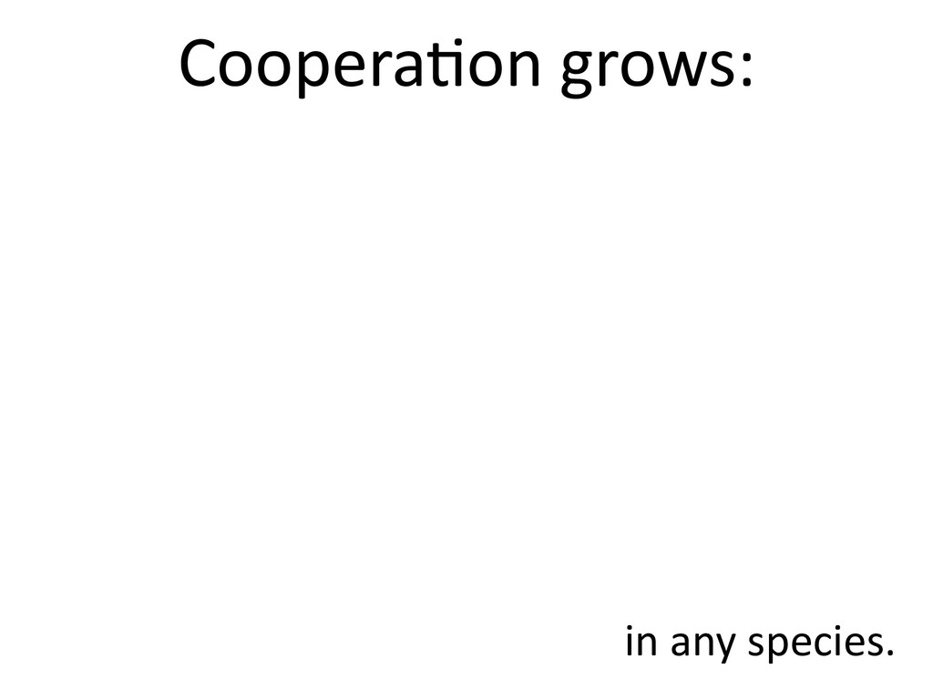 Coopera,on grows: in any species.