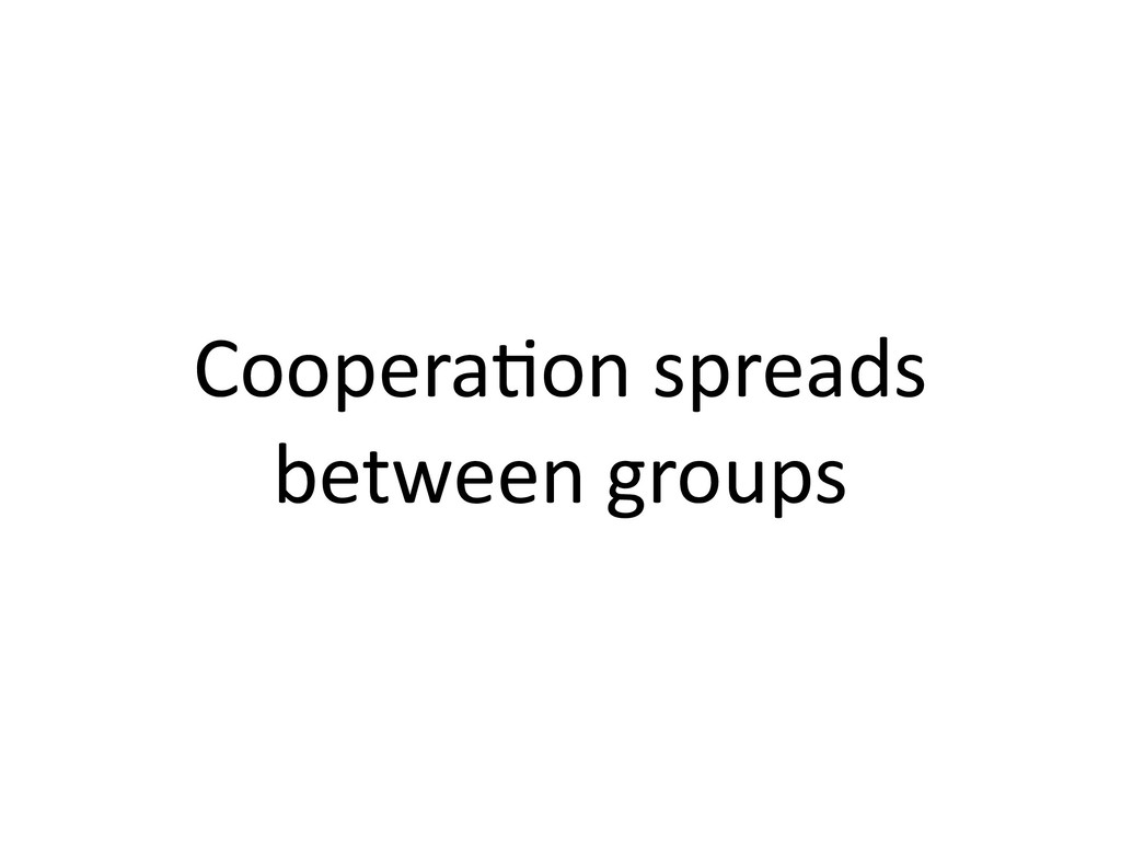 Coopera,on spreads between groups