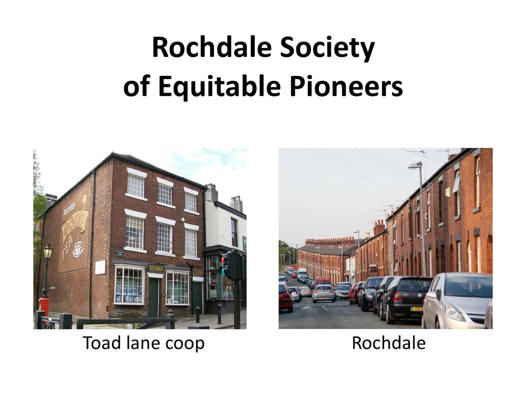Rochdale Society of Equitable Pioneers Toad lan...