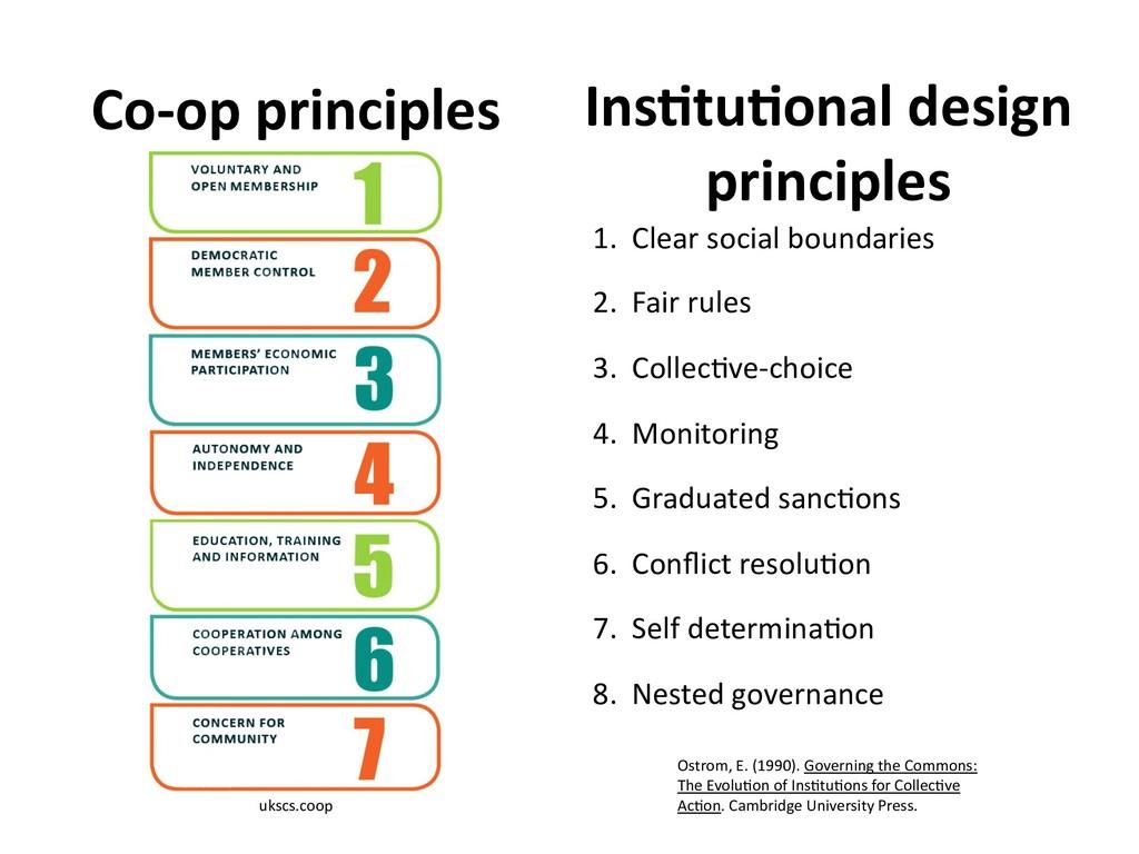 Co-op principles ukscs.coop Ins6tu6onal design ...