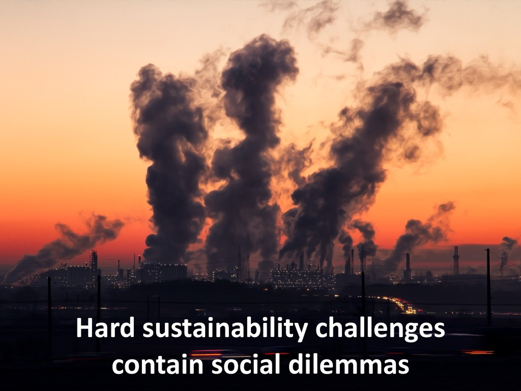 Hard sustainability challenges contain social d...