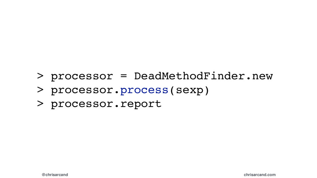 @chrisarcand chrisarcand.com > processor = Dead...