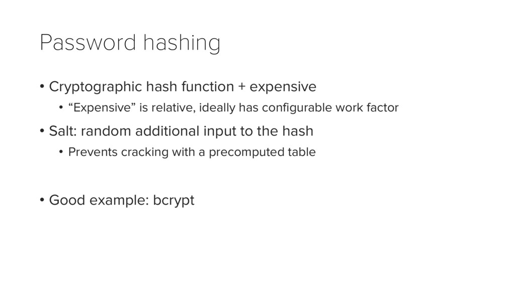 Password hashing • Cryptographic hash function ...