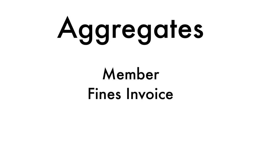 Aggregates Member Fines Invoice