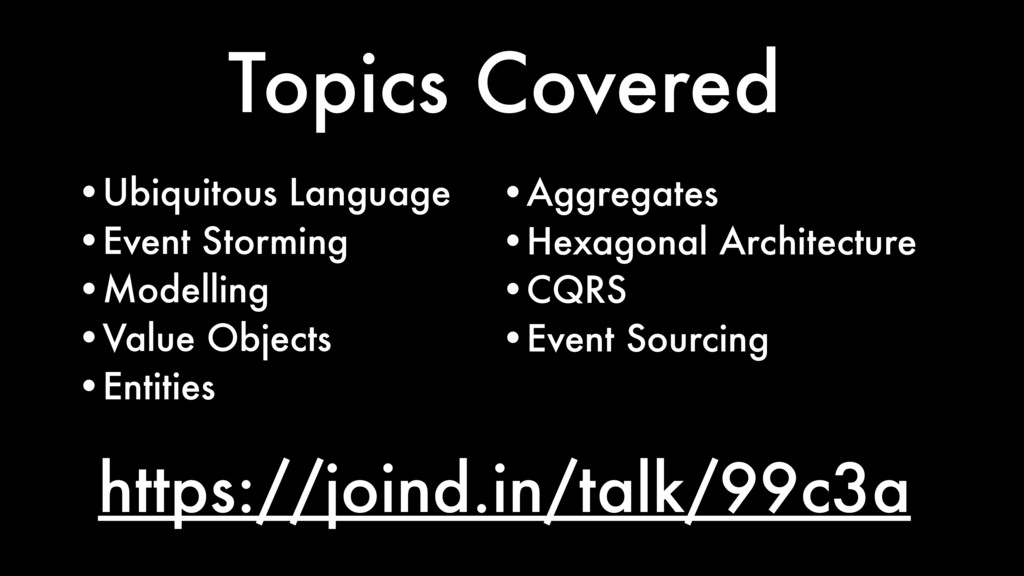 https://joind.in/talk/99c3a Topics Covered •Ubi...