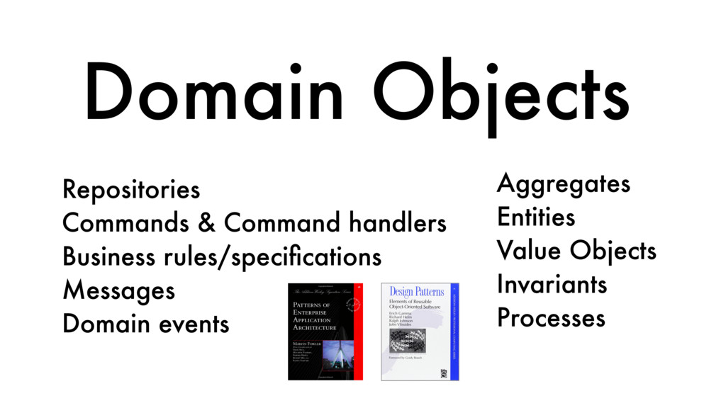 Domain Objects Repositories Commands & Command ...