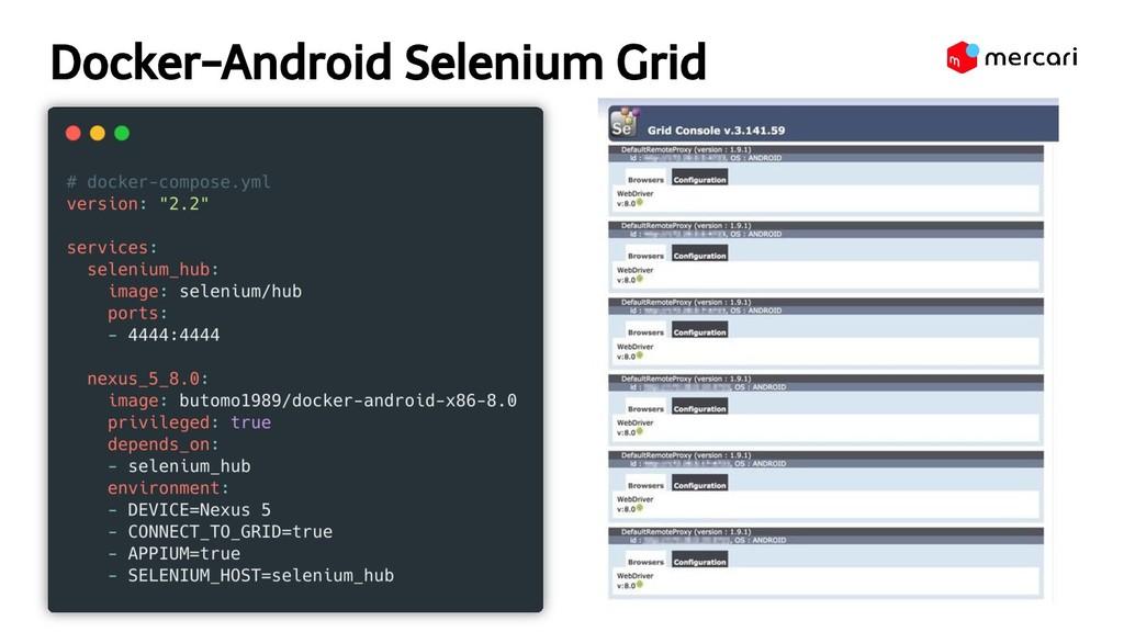 Docker-Android Selenium Grid