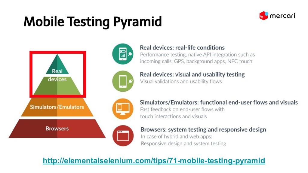 Mobile Testing Pyramid http://elementalseleniu...