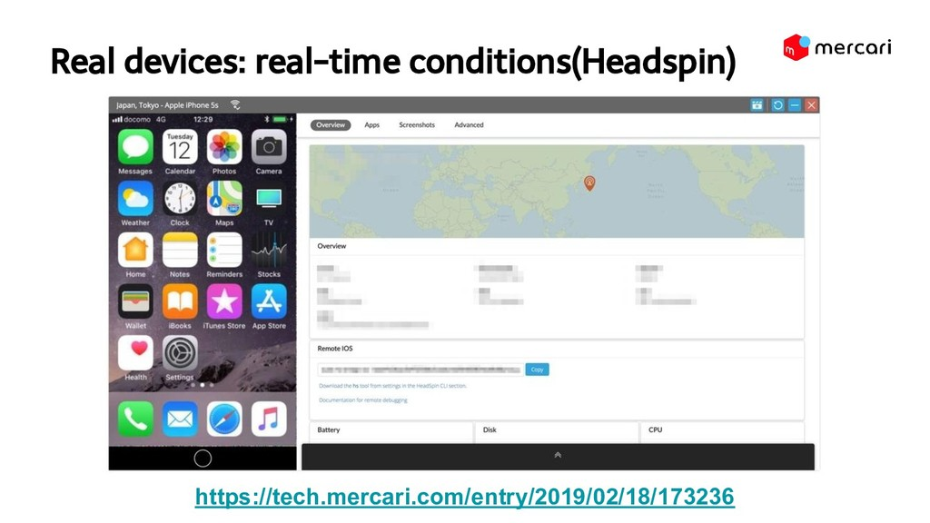 Real devices: real-time conditions(Headspin) h...