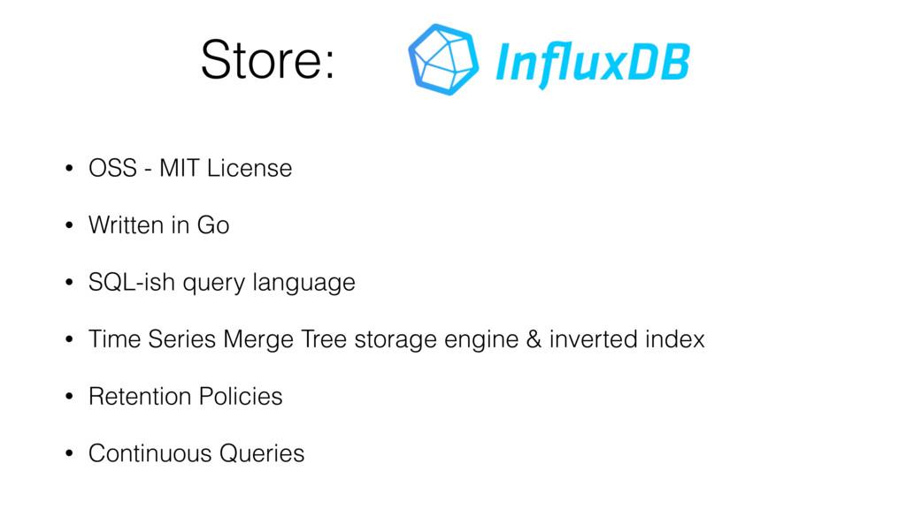 Store: • OSS - MIT License • Written in Go • SQ...