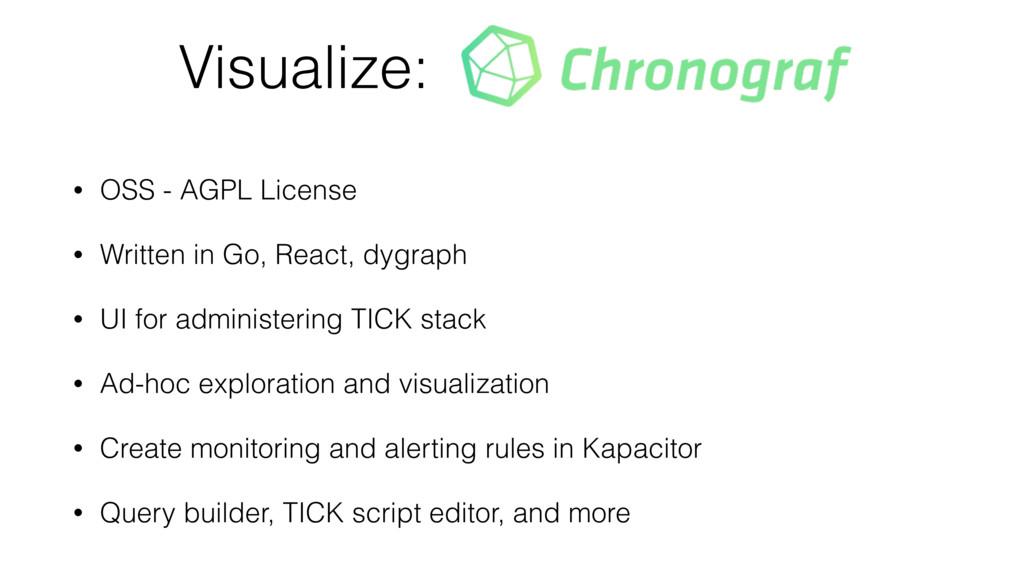 Visualize: • OSS - AGPL License • Written in Go...