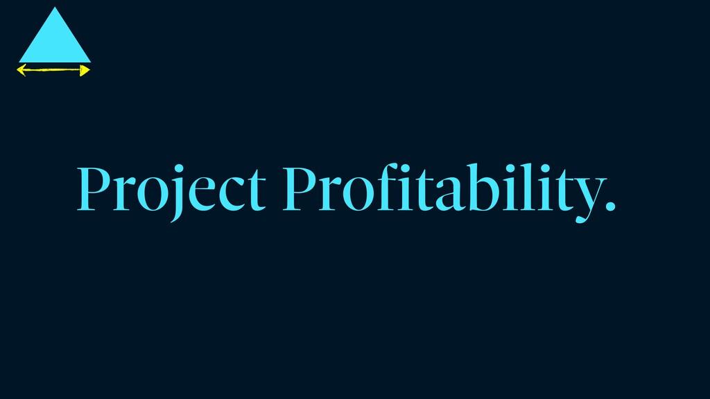 Project Profitability.