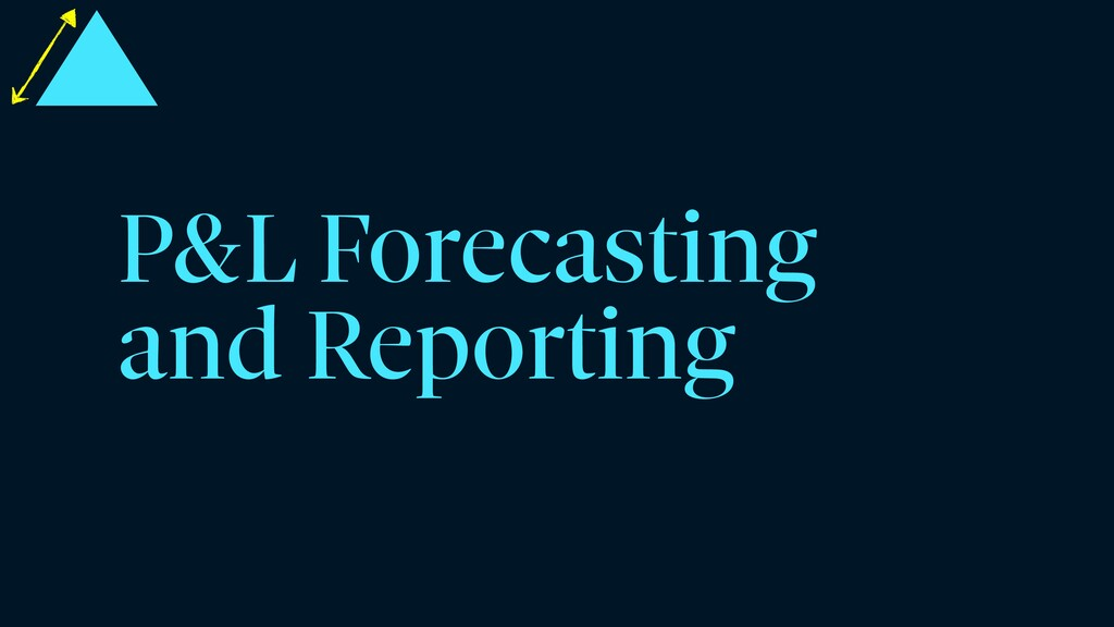 P&L Forecasting and Reporting
