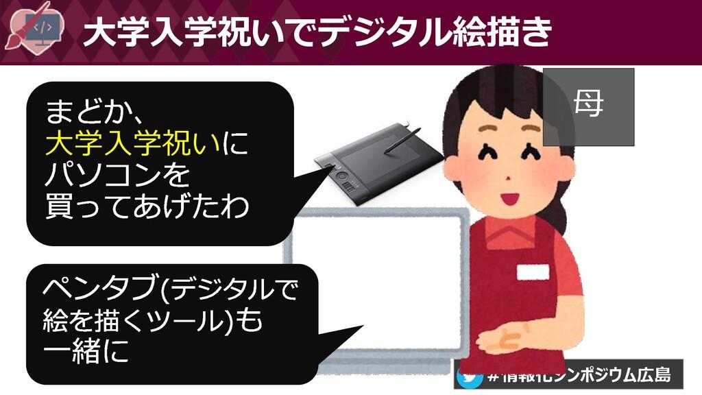 #情報化シンポジウム広島 大学入学祝いでデジタル絵描き 大学入学祝い 母