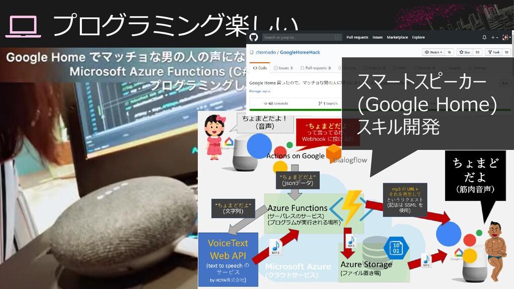 #情報化シンポジウム広島 プログラミング楽しい スマートスピーカー (Google Home)...