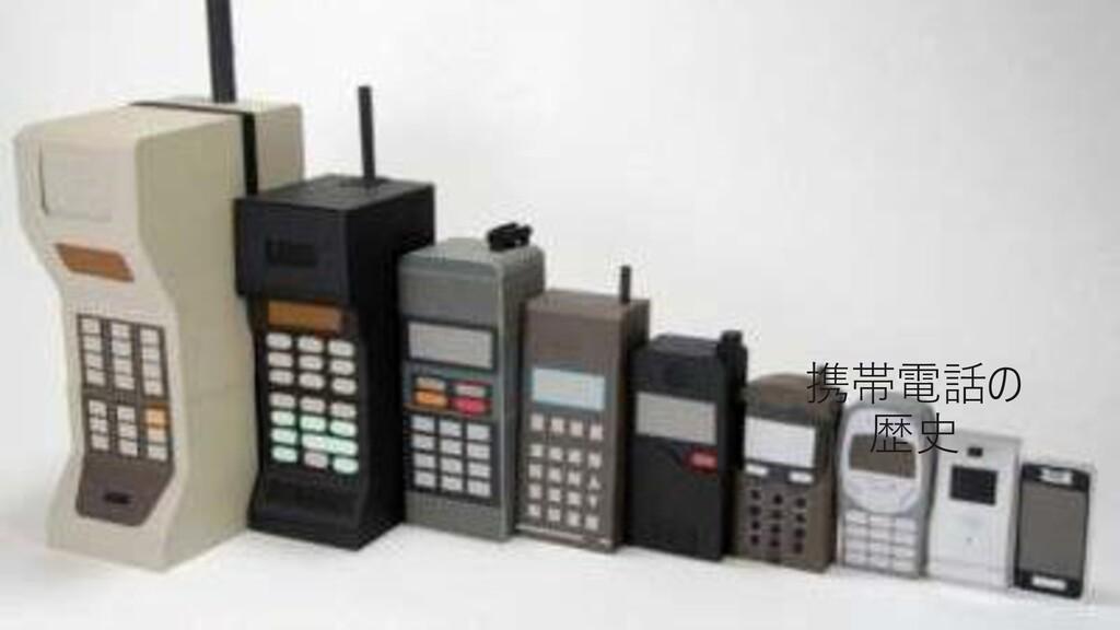 #情報化シンポジウム広島 携帯電話の 歴史
