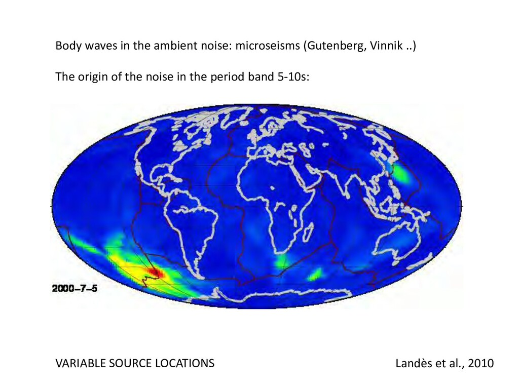 Body waves in the ambient noise: microseisms (G...