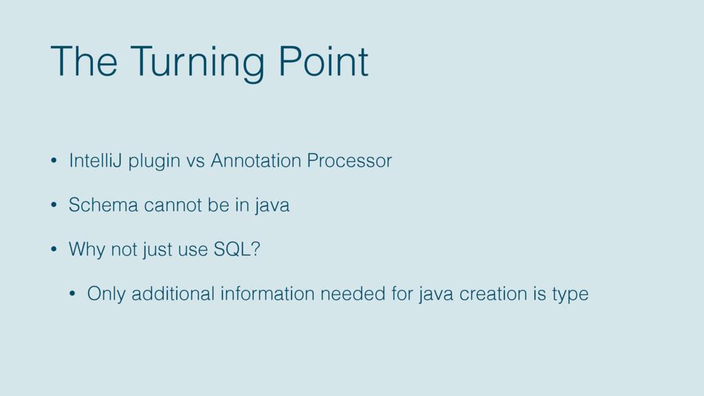 The Turning Point • IntelliJ plugin vs Annotati...