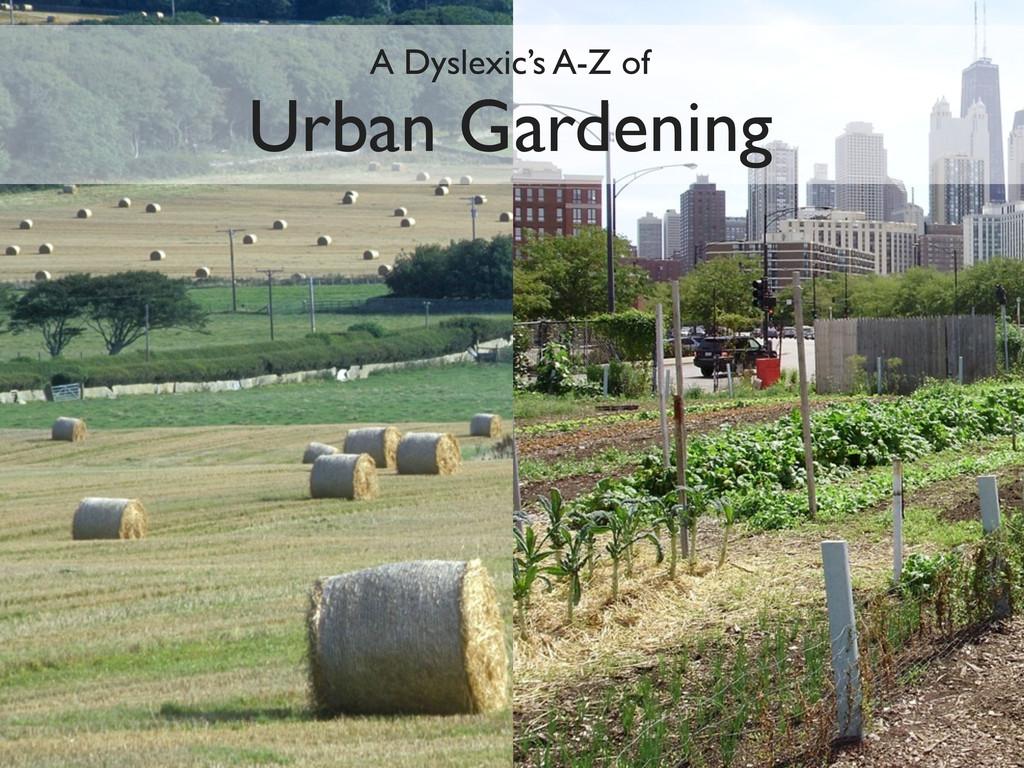 A Dyslexic's A-Z of Urban Gardening