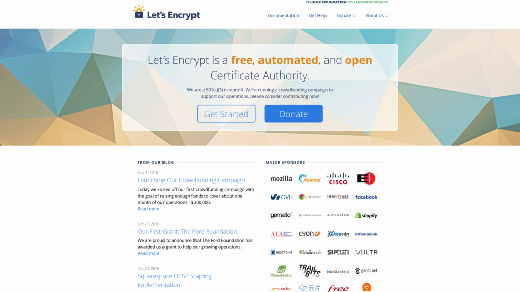 Let's Encrypt is a free, automated, and open Ce...