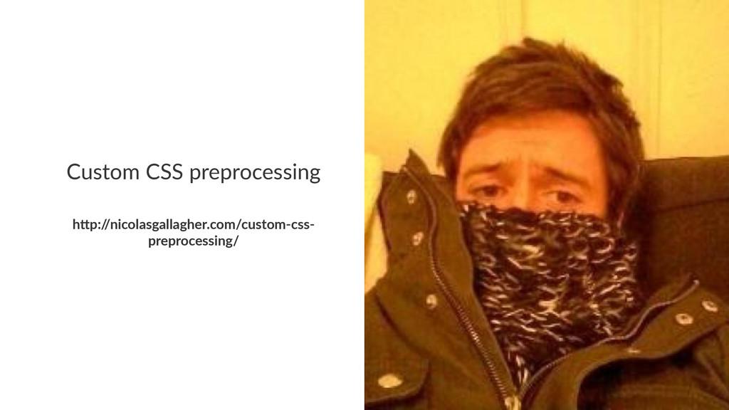 "Custom'CSS'preprocessing h""p:/ /nicolasgallaghe..."