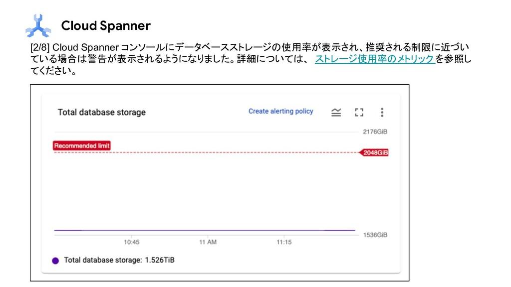 Cloud Spanner [2/8] Cloud Spanner コンソールにデータベースス...