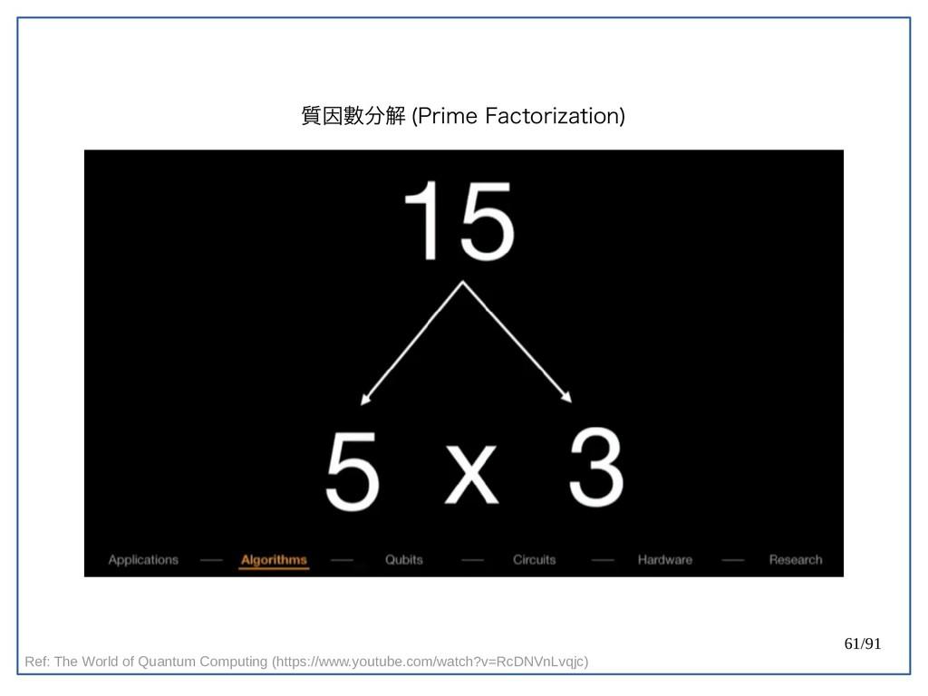 61/91 質因數分解 (double-Prime Factorization) Ref: T...