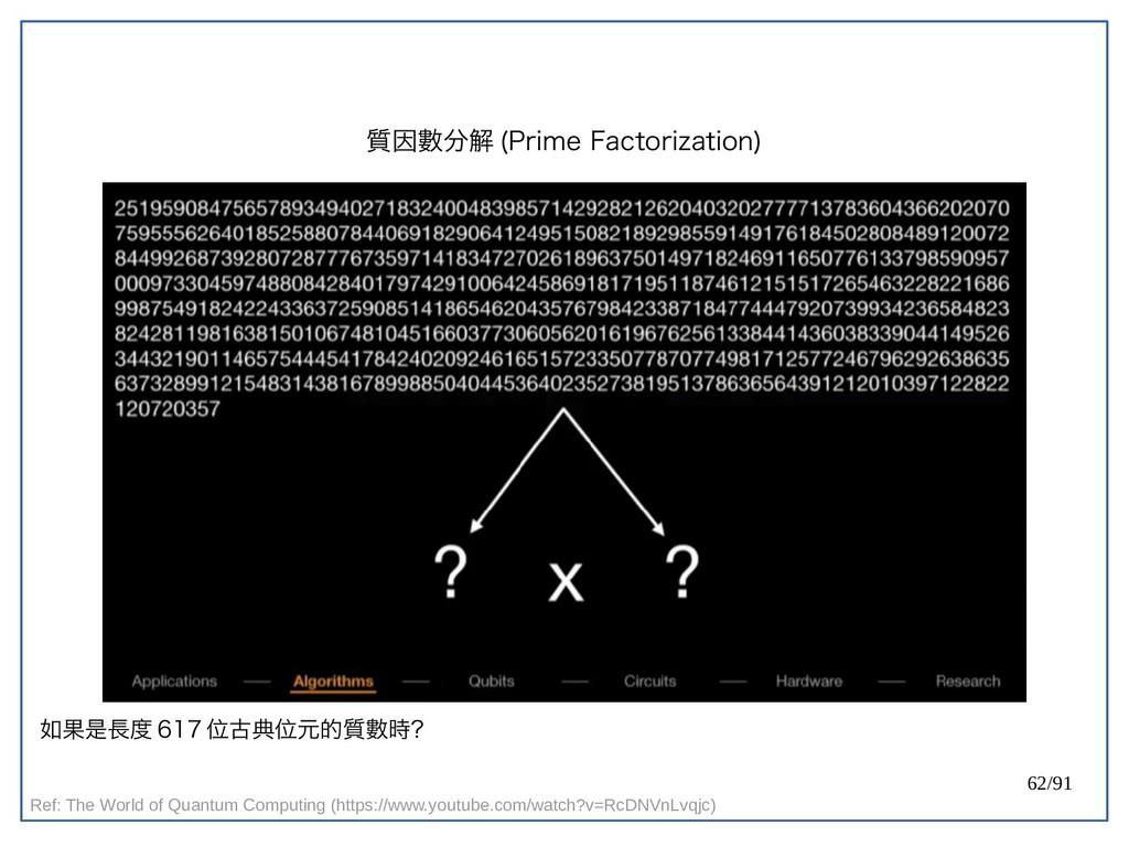 62/91 質因數分解 (double-Prime Factorization) Ref: T...