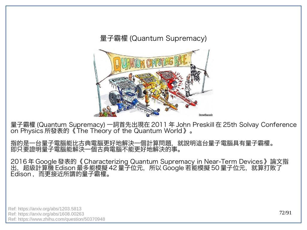 72/91 量子霸權 (double-Quantum Supremacy) 量子霸權 (dou...