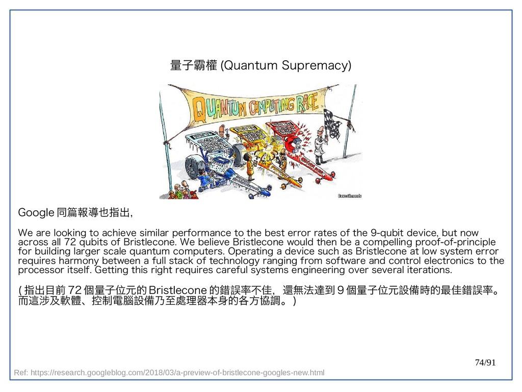 74/91 量子霸權 (double-Quantum Supremacy) Google 同篇...