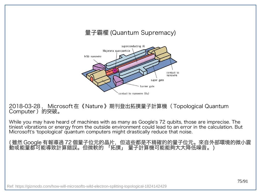 75/91 量子霸權 (double-Quantum Supremacy) 2018-03-2...