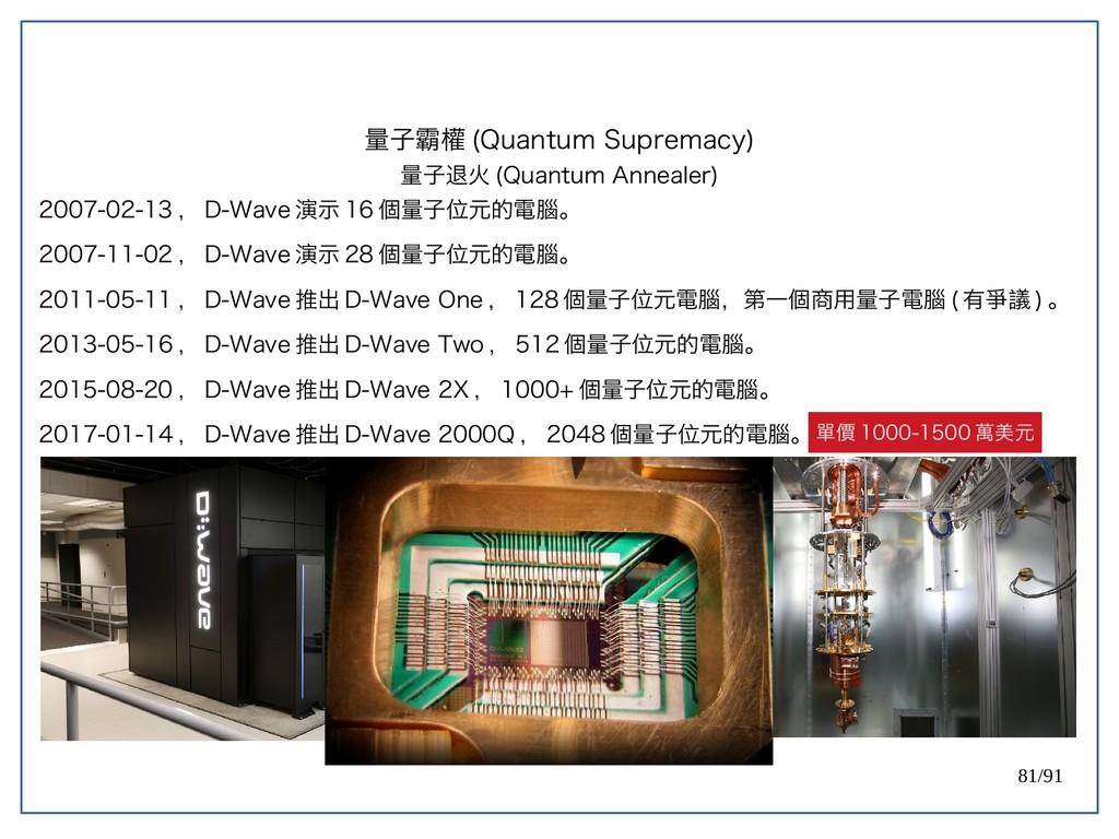 81/91 2007-02-13 , D-Wave 演示 16 個量子位元的電腦。 2007-...
