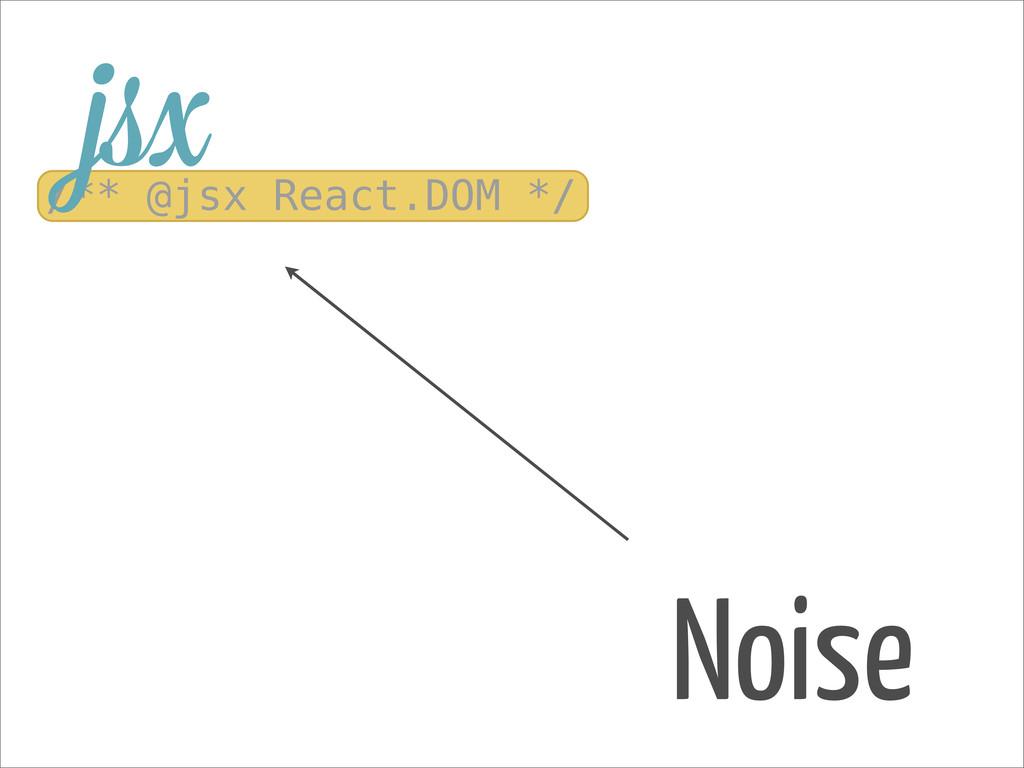 Noise /** @jsx React.DOM */ jsx