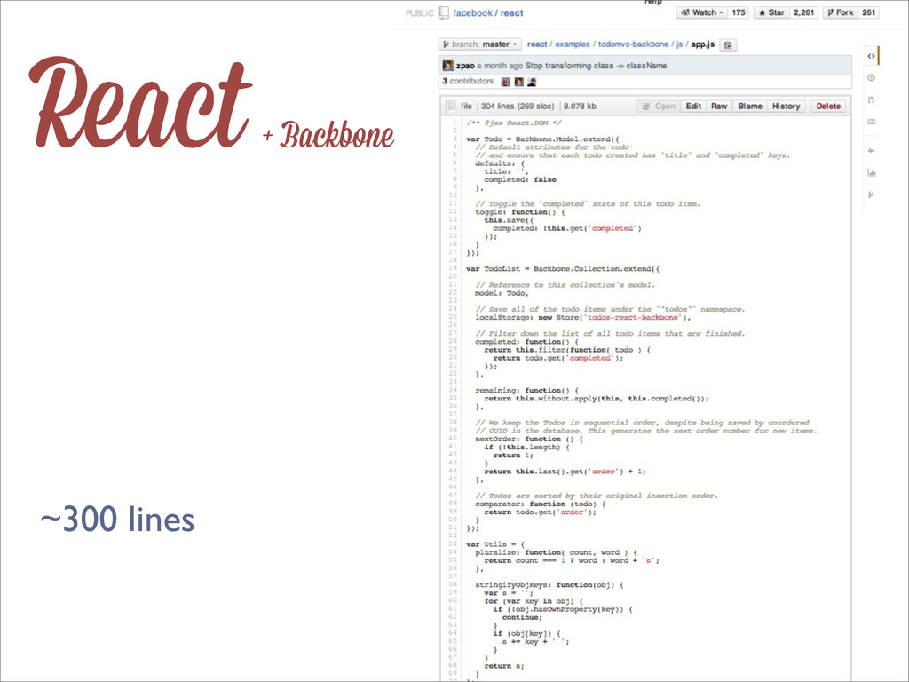 React + Backbone ~300 lines