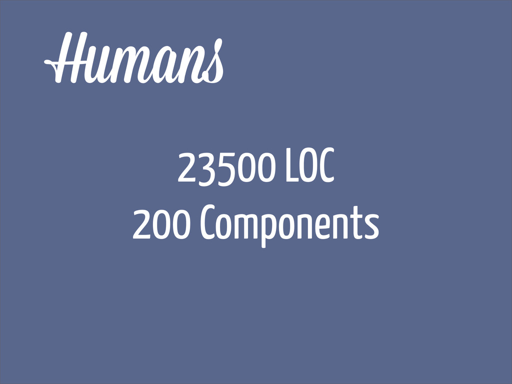 Human 23500 LOC 200 Components