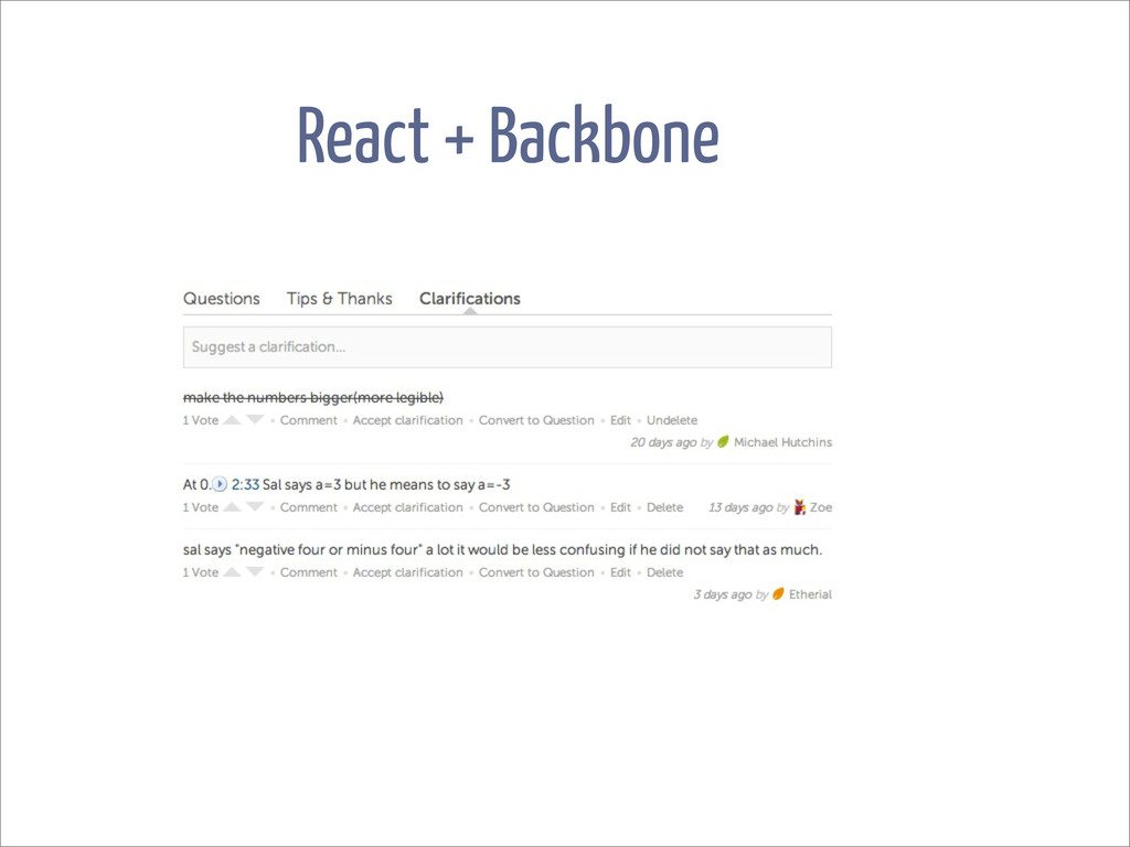 React + Backbone
