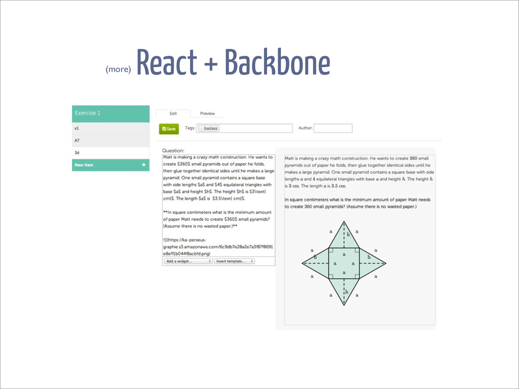 React + Backbone (more)