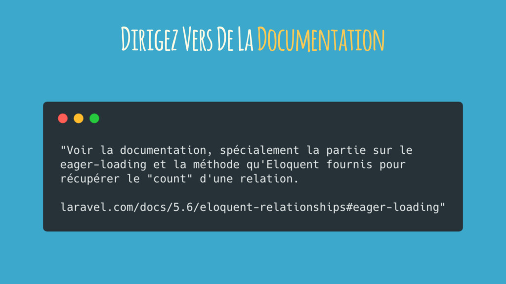 Dirigez Vers De La Documentation