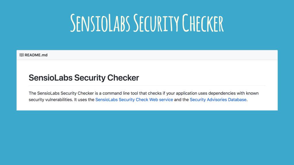 SensioLabs Security Checker
