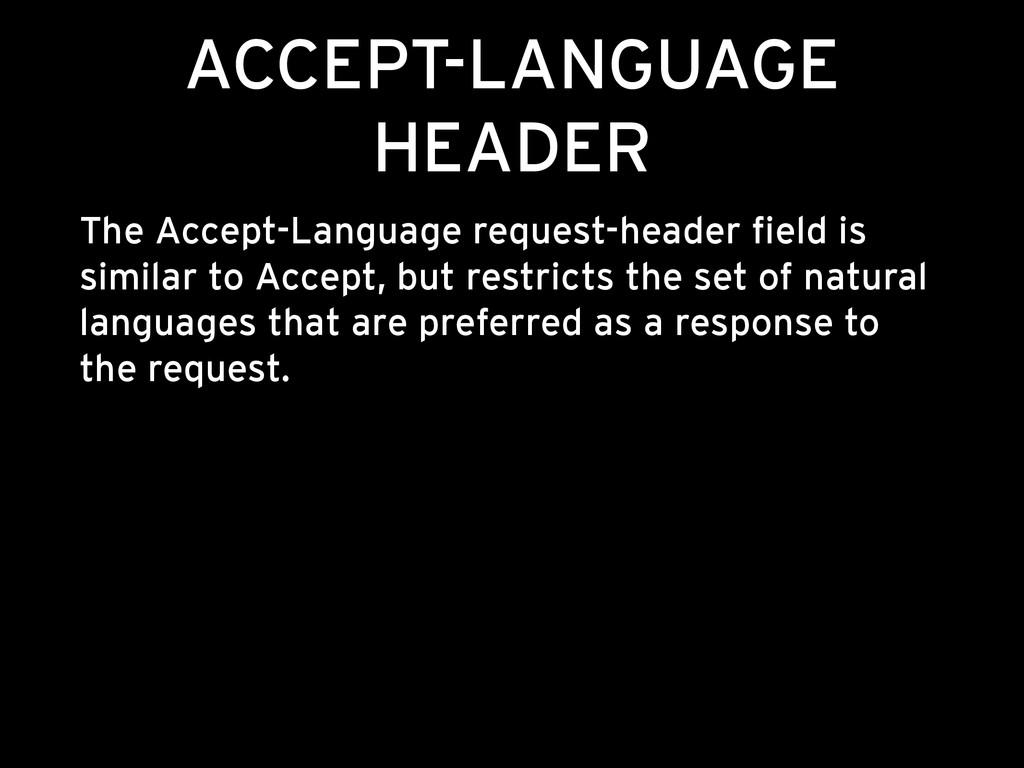 ACCEPT-LANGUAGE HEADER The Accept-Language requ...
