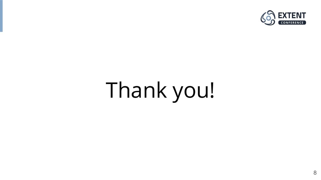 Thank you! 8