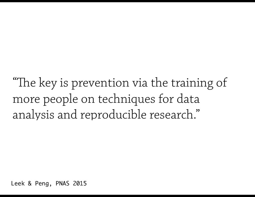 """""""The key is prevention via the training of more..."""
