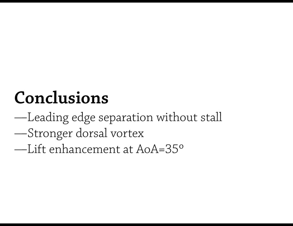 Conclusions —Leading edge separation without s...