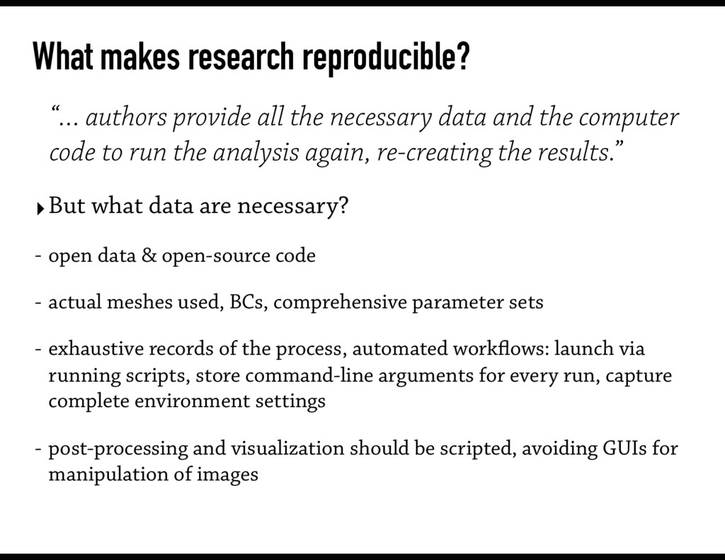 """What makes research reproducible? """"… authors pr..."""