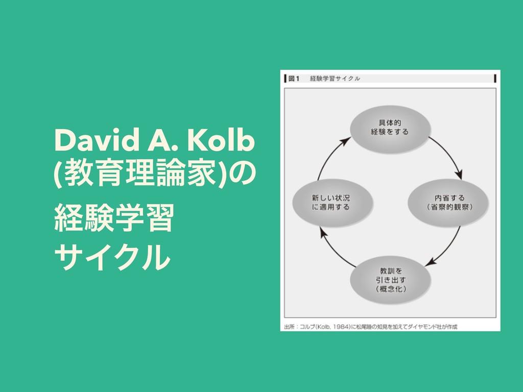 David A. Kolb (ڭҭཧՈ)ͷ ܦݧֶश αΠΫϧ