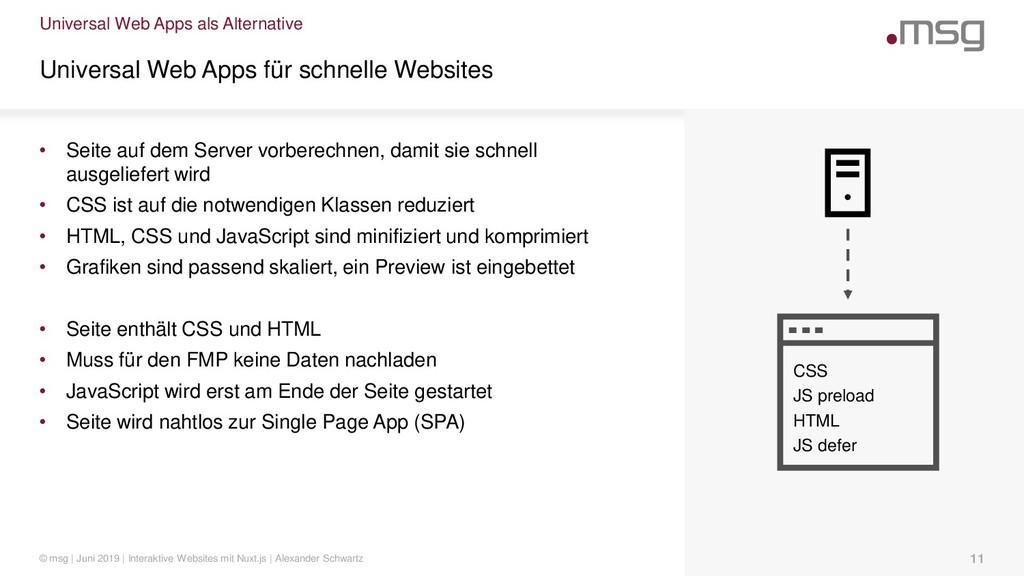 Universal Web Apps als Alternative Universal We...