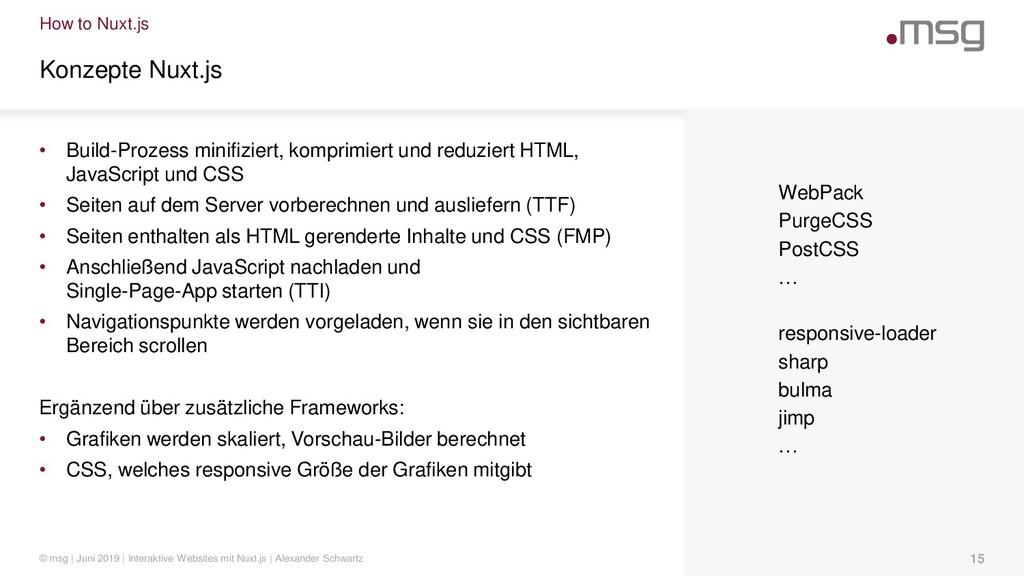 How to Nuxt.js Konzepte Nuxt.js • Build-Prozess...